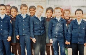 Schoolchildren--all orphans--in Bukhara, Uzbekistan (1990).