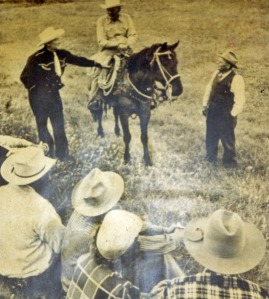 My Grandpa Lute and relatives work a cattle roundup. (Northeastern Montana, 1951)