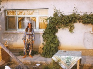 1973: I'm at home, our white-washed home, in Mustafakemalpasa, Turkey.